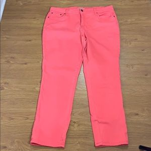 Earl Jeans Pink Straight Leg Stretchy Size 16